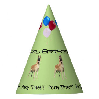 Belgian Malinois Birthday Party Hat