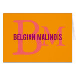 Belgian Malinois Breed Monogram Design