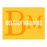 Belgian Malinois Breed Monogram Design Postcard