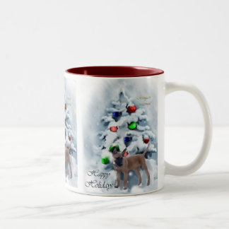 Belgian Malinois Christmas Gifts Two-Tone Coffee Mug