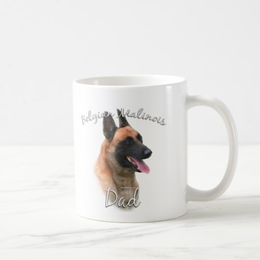 Belgian Malinois Dad 2 Classic White Coffee Mug