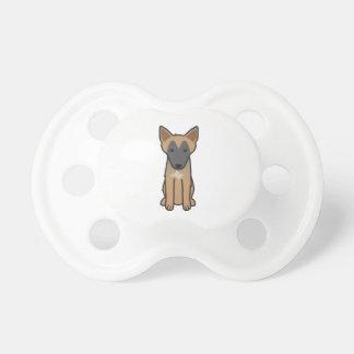 Belgian Malinois Dog Cartoon Pacifier