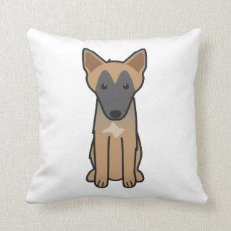 Belgian Malinois Dog Cartoon Throw Pillow