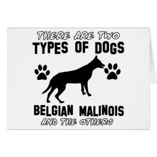 Belgian Malinois dog designs Card