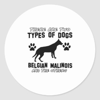 Belgian Malinois dog designs Classic Round Sticker