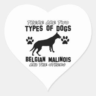 Belgian Malinois dog designs Heart Sticker