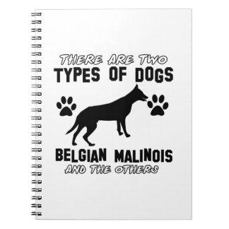 Belgian Malinois dog designs Notebook