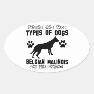 Belgian Malinois dog designs Oval Sticker