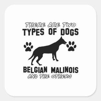 Belgian Malinois dog designs Square Sticker
