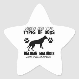 Belgian Malinois dog designs Star Sticker