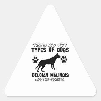 Belgian Malinois dog designs Triangle Sticker