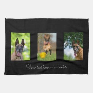 Belgian Malinois dog lovers custom kitchen towel