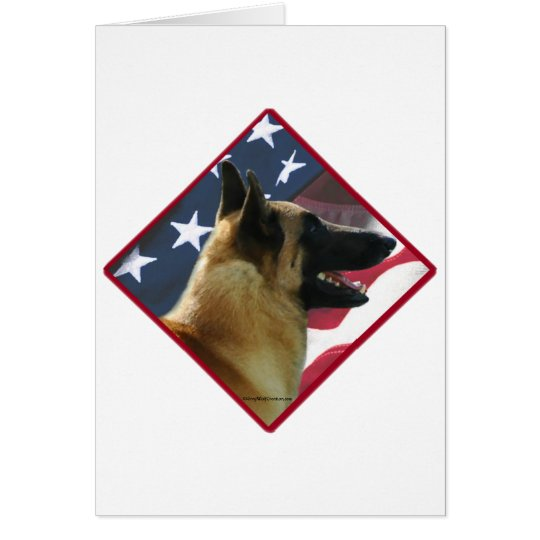 Belgian Malinois Flag 2 Card