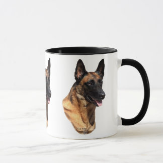 Belgian Malinois head mug