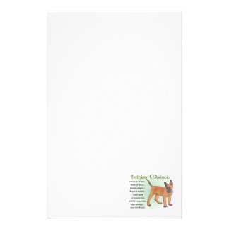 Belgian Malinois Heritage of Love Stationery