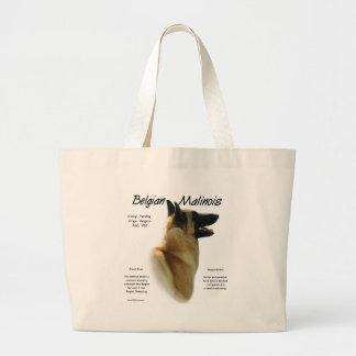 Belgian Malinois History Design Tote Bags