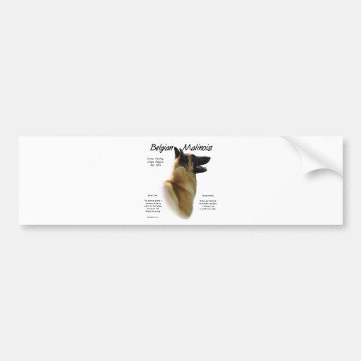 Belgian Malinois History Design Bumper Sticker