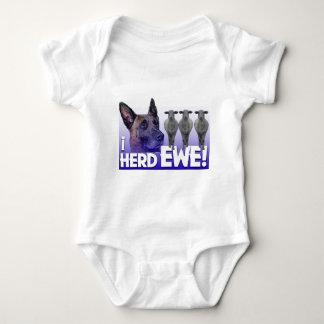 Belgian Malinois -I Herd EWE - PUN - I HEARD YOU Baby Bodysuit