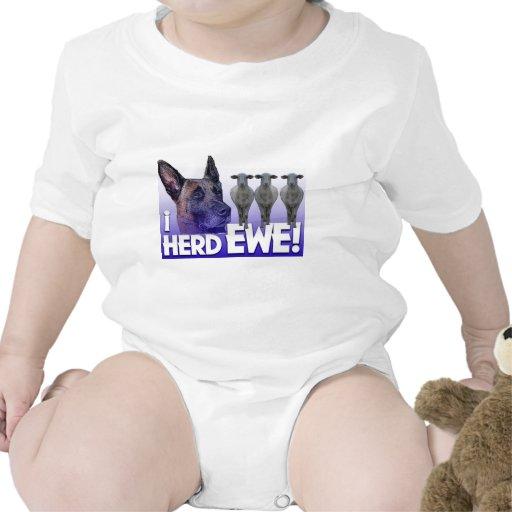 Belgian Malinois -I Herd EWE - PUN - I HEARD YOU Baby Bodysuits