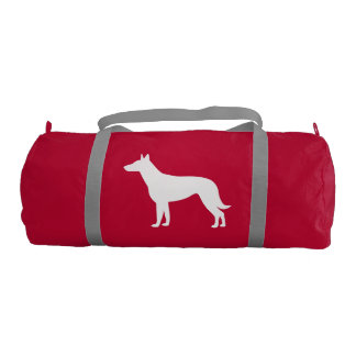 Belgian Malinois in Silhouette Gym Bag