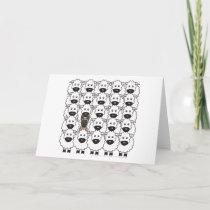Belgian Malinois in the Sheep Card