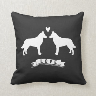 Belgian Malinois Love Throw Pillow
