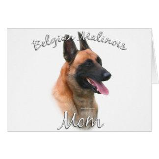 Belgian Malinois Mom 2 Card