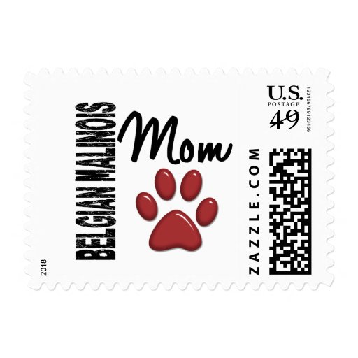 Belgian Malinois Mom 2 Postage Stamps