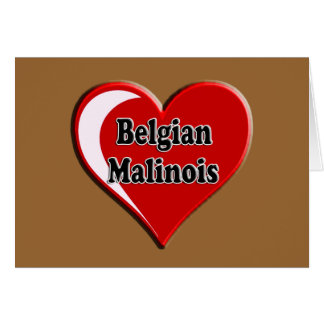 Belgian Malinois on Heart for dog lovers Card
