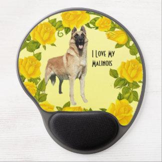 Belgian Malinois on Yellow Roses Gel MousePad