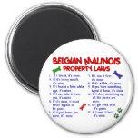 BELGIAN MALINOIS PL2 2 INCH ROUND MAGNET