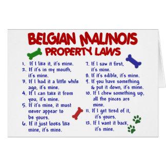 BELGIAN MALINOIS PL2 CARD