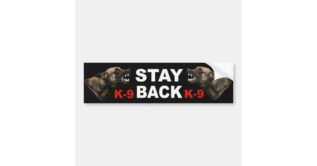belgian malinois police k9 bumper sticker