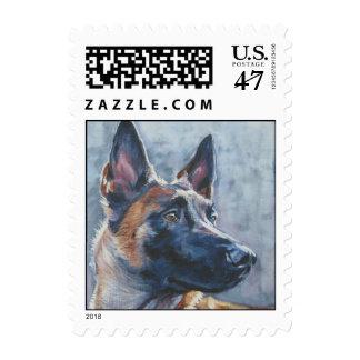 Belgian Malinois postage stamp