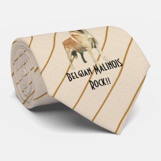 Belgian Malinois Rock!! double-sided print Tie