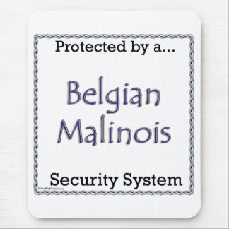 Belgian Malinois Security System Mouse Pad