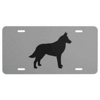 Belgian Malinois Silhouette License Plate