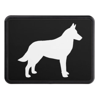 Belgian Malinois Silhouette Trailer Hitch Cover