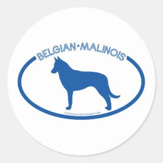 Belgian Malinois Silhouette Sticker