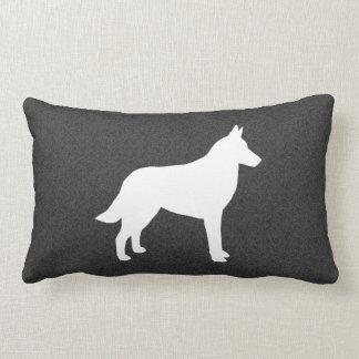 Belgian Malinois Silhouette Throw Pillows