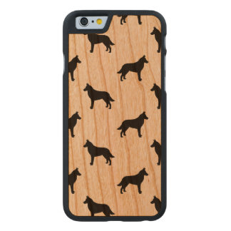 Belgian Malinois Silhouettes Pattern Carved® Cherry iPhone 6 Slim Case