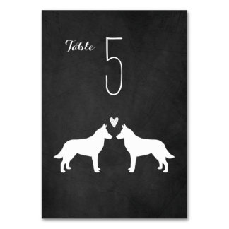 Belgian Malinois Wedding Table Number Card