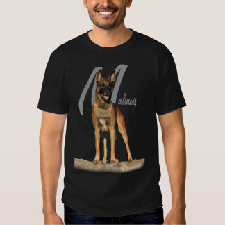 Belgian Malinois with breed name graphic Shirts