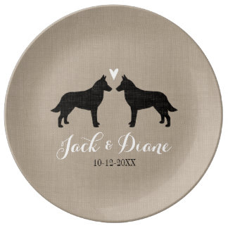 Belgian Malinois with Heart Porcelain Plate