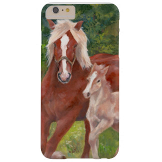 Belgian mare and foal barely there iPhone 6 plus case