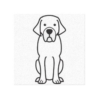 Belgian Mastiff Dog Cartoon Canvas Print