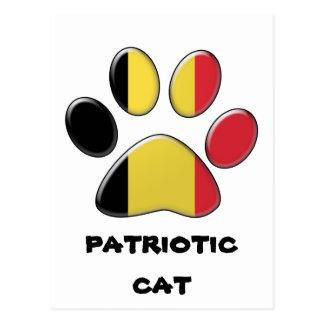 Belgian patriotic cat postcard