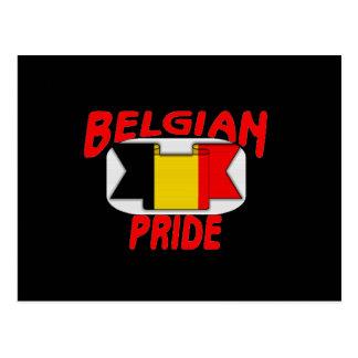 Belgian pride postcard