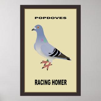 Belgian Racing Homer Poster