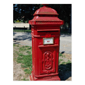Belgian red letter box post card